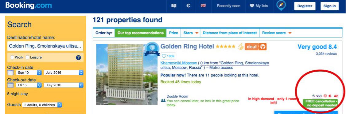 Cerca hotel per prezzo booking coupon offerta sconto giveaway posti limitati