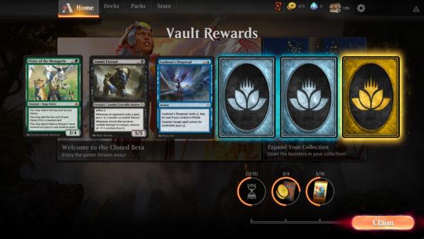 mtg Magic Arena Guida per iniziare in Magic the Gathering vault reward