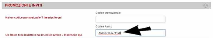 Codici Promozionali carta freccia registrazione codice sconto trenitalia 10€ per la prima prenotazione