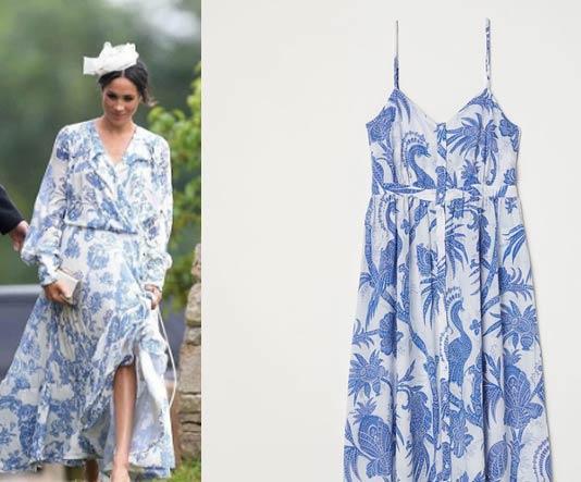 H&M copia il vestito di Meghan Markle di Oscar de La Renta