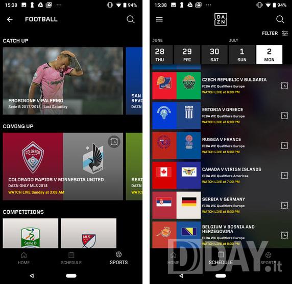 Dazn Serie A sport calcio 2 MESI GRATIS buyon interfaccia